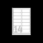 Avery Clear Address Label - Laser - L7563 Transparent