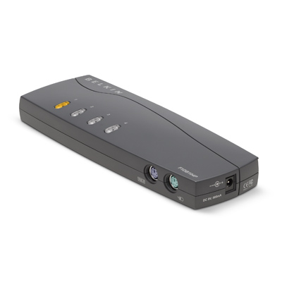 KVM Switch E-series 4-port Ps/2 With Cables (f1db104p2b)