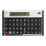 HP 12c Desktop Financial calculator Aluminium,Black