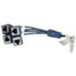 Hewlett Packard Enterprise JG263A cable interface/gender adapter Mini D-28 4-RJ45 Black