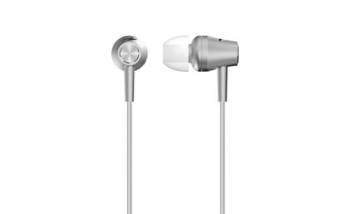 Genius HS-M360 mobile headset Binaural In-ear Metallic,Silver