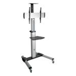 "Tripp Lite DMCS3270XP 70"" Portable flat panel floor stand Black, Silver flat panel floorstand"