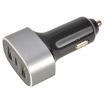 2-Power Car Charger 12V/24V 2x Type-A 1x Type-C
