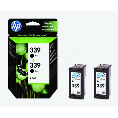 HP C9504EE (339) Printhead black, 860 pages, 21ml, Pack qty 2
