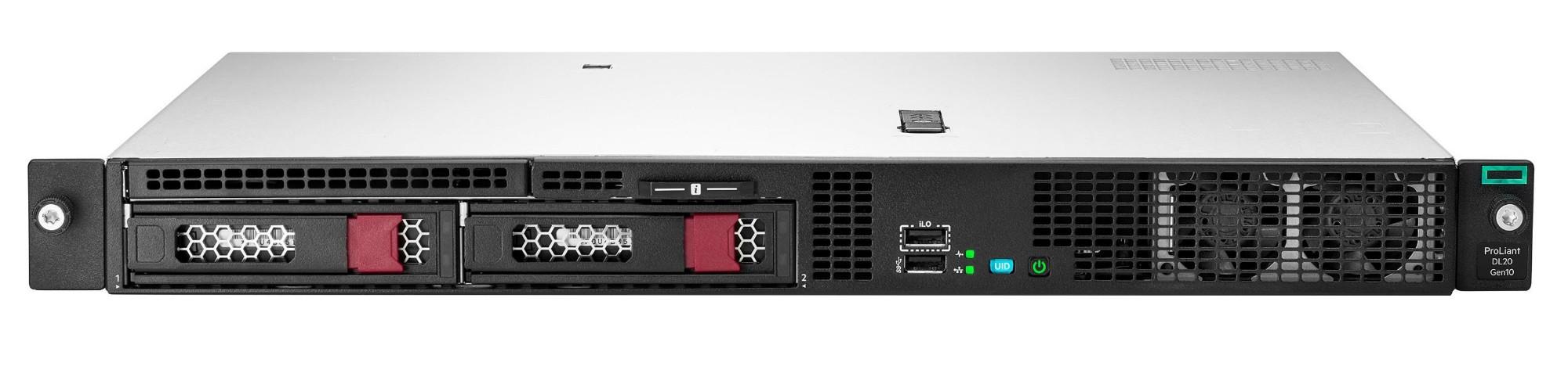 Hewlett Packard Enterprise ProLiant DL20 Gen10 + Windows Server 2019 Standard ROK servidor Intel® Pentium® 3,8 GHz 8 GB DDR4-SDRAM 24 TB Bastidor (1U) 290 W