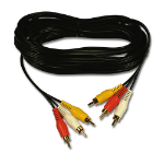 Belkin Triple Pack Phono to Phono Cables, 5m 5m Black composite video cable