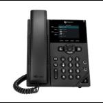 POLY VVX 250 IP telefoon Zwart Handset met snoer LCD 4 regels
