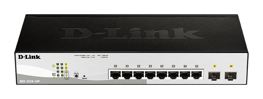 D-Link DGS-1210-10P network switch Managed L2 Gigabit Ethernet (10/100/1000) Black 1U Power over Ethernet (PoE)