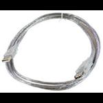 Microconnect USBAAF5T 5m USB A USB A Male Female Transparent USB cable