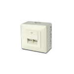 Digitus CAT 5e, Class D, wall outlet, shielded, surface mount
