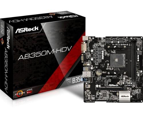 Asrock AB350M-HDV motherboard Socket AM4 Micro ATX AMD B350