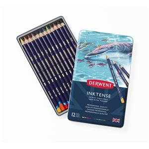 Derwent Inktense Pencil to Ink Water Soluble Pencil Assorted Ref 0700928 [Tin 12]