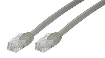 MCL Cable 2x RJ11 6P4C PLUGS, 3m cable telefónico Gris