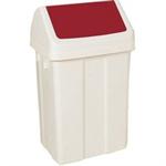 FSMISC 50 LITRE SWING BIN WHITE/RED 330352352
