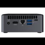 Intel NUC BOXNUC8I7BEKQA3 PC/workstation 8th gen Intel® Core™ i7 i7-8559U 16 GB DDR4-SDRAM 512 GB SSD Black Mini PC