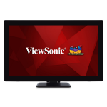 "Viewsonic TD2760 touch screen monitor 68.6 cm (27"") 1920 x 1080 pixels Black Dual-touch Multi-user"