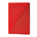 Western Digital My Passport disco duro externo 2000 GB Rojo