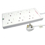 Cables Direct RB-10-6GANGSWD surge protector White 6 AC outlet(s) 10 m