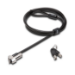 Kensington NanoSaver cable antirrobo Negro, Acero inoxidable