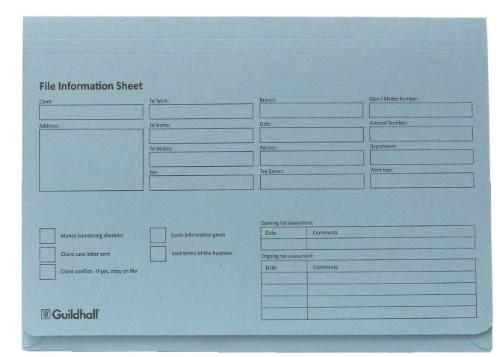 Guildhall 211/1200Z folder 355.6 x 254 Blue