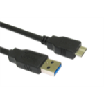 Cables Direct USB3-MICROB USB cable 2 m USB A Micro-USB B Male Black