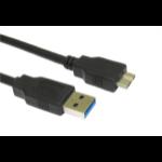 Cables Direct USB3-MICROB USB cable 2 m 3.2 Gen 1 (3.1 Gen 1) USB A Micro-USB B Black