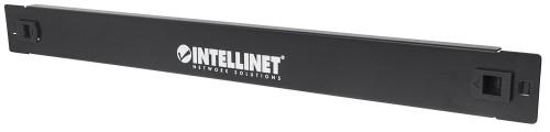 """Intellinet 19"""" Blank Panel, 1U Cover for Unused Space in 19"""" Cabinet, Toolless, Metal, Black"""