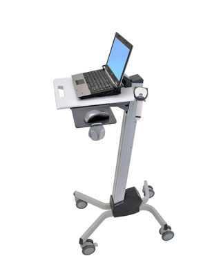 Ergotron Neo-Flex Laptop Cart Grey computer desk
