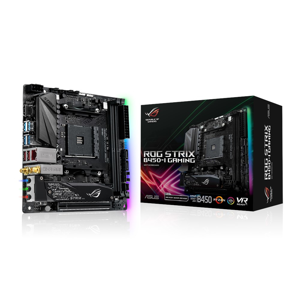 ASUS ROG STRIX B450-I GAMING motherboard Socket AM4 Mini ITX AMD B450