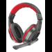 Trust 21953 Binaural Diadema Negro, Rojo auricular con micrófono