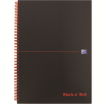 Black n' Red BLKRED A4 MATT WIRO NOTEBK 846354905