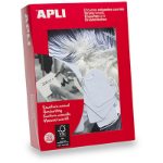 APLI 387 STRUNG TICKETS 13X20MM WHITE PACK 1000