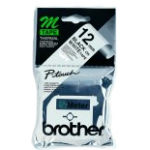 Brother Labelling Tape - 12mm, Black/White, Blister cinta para impresora de etiquetas M
