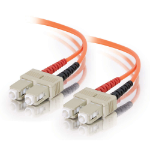 C2G 15m SC/SC fiber optic cable Orange