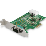 StarTech.com 1-port PCI Express RS232 Serial Adapter Card - PCIe RS232 Serial Host Controller Card - PCIe to Serial DB9 - 16950 UART - Low Profile Expansion Card - Windows, macOS, Linux
