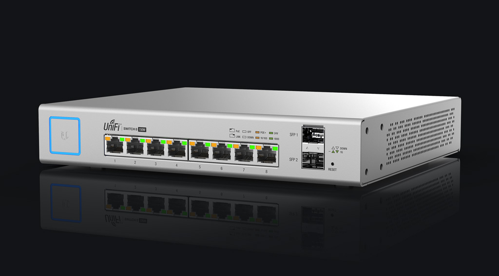 Ubiquiti Networks UniFi US-8-150W Managed network switch Gigabit Ethernet (10/100/1000) Power over Ethernet (PoE) White network switch