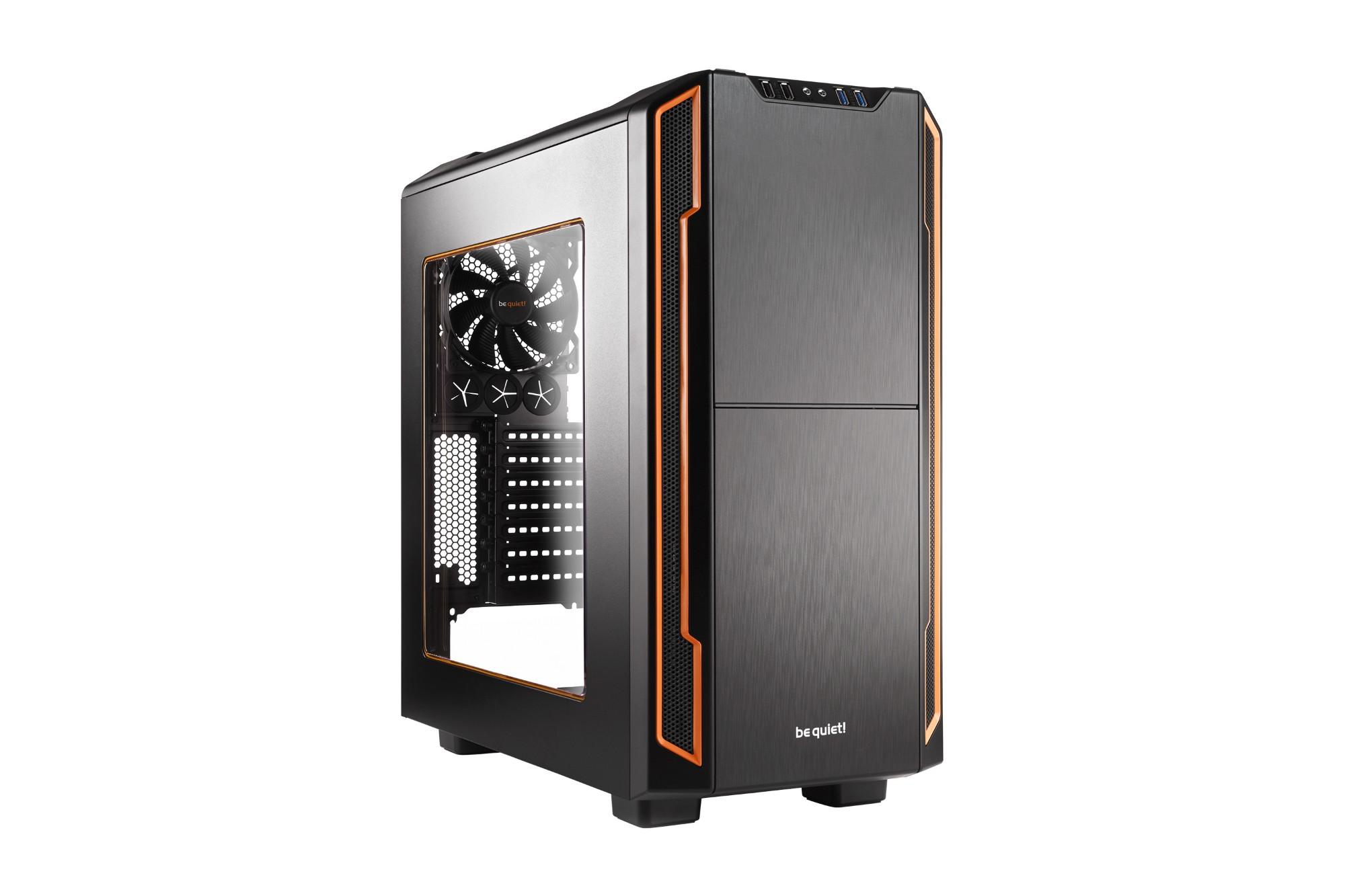 Pc Case - Silent Base 600 Orange Window