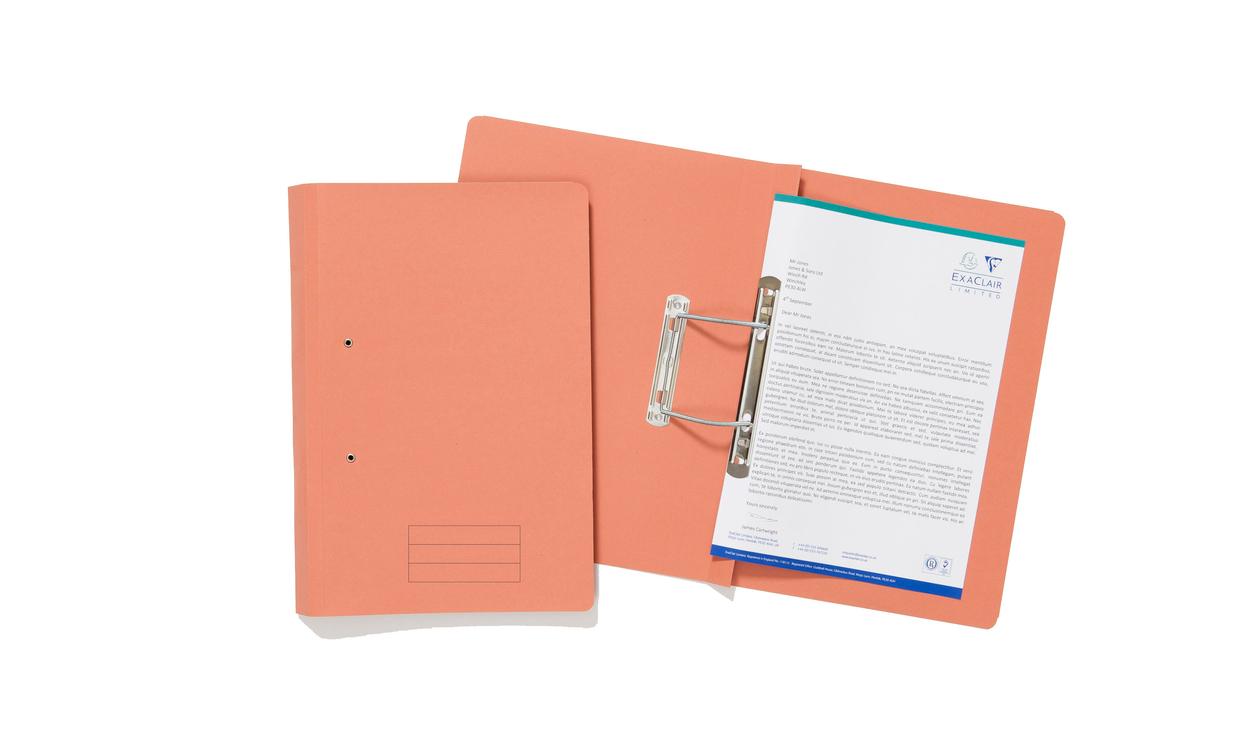 Exacompta Value Transfer File Foolscap Orange TFM-ORGZ - (PK25)
