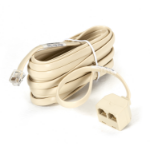 Black Box FM011 RJ-11 M 2x RJ-11 F Beige telephone splitter