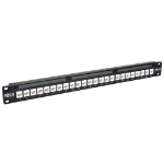 Tripp Lite 24-Port 1U Rack-Mount Cat6a Feedthrough Patch Panel, RJ45 Ethernet