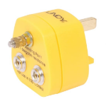 Lindy 40173 power plug adapter Yellow