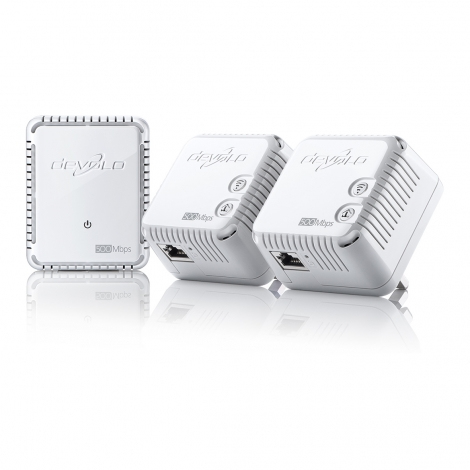 Devolo dLAN 500 WiFi, Network Kit 500Mbit/s Ethernet LAN Wi-Fi White 3pc(s) PowerLine network adapter