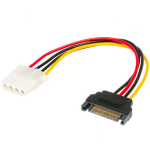 Akasa SATA to 4pin Molex adapter 15pin SATA 4pin Molex Multicolour cable interface/gender adapter