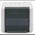 ASSMANN Electronic DN-93844-OD Zwart, Grijs wandcontactdoos
