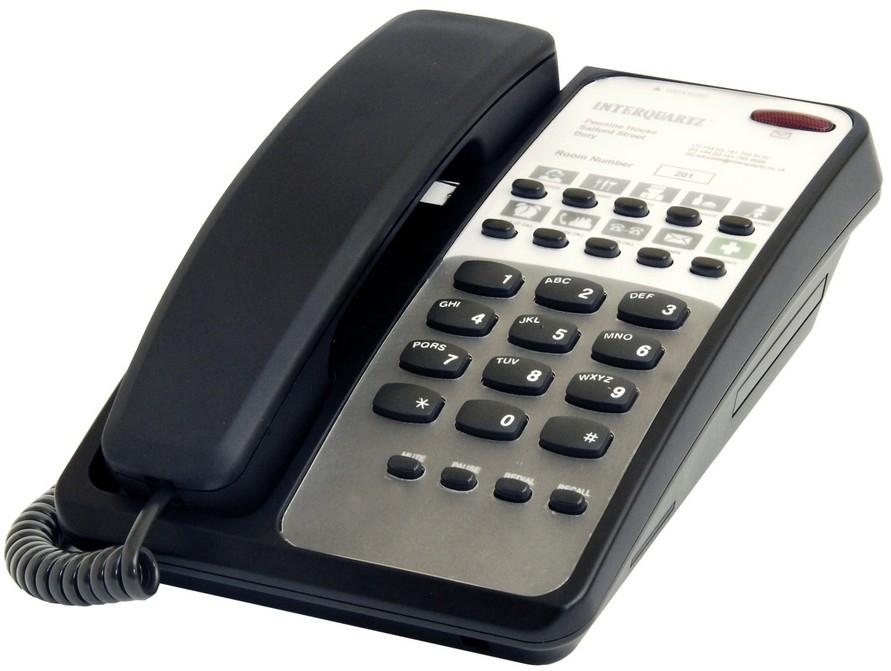 Interquartz 9281B3 telephone Black