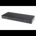 Digitus DS-23300-2 KVM switch Rack mounting Black