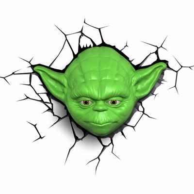 TARGET Star Wars 3D Deco Wall Light - Yoda Face