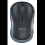 Logitech M185 RF Wireless Ambidextrous Black mice