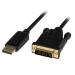 StarTech.com Cable de 1,8m Adaptador Activo de Vídeo Externo DisplayPort a DVI - 1920x1200 - Negro