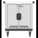 Rocstor VTSC032-01 portable device management cart/cabinet Black,White